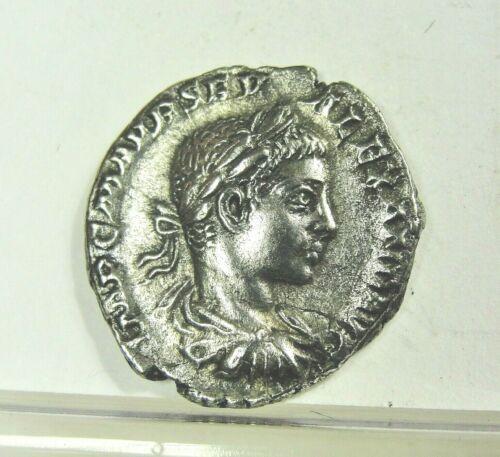 Severus Alexander AR Denarius Coin 222-228 AD. Rev: Liberalitas ~Free shipping~