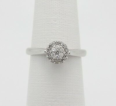 Zales 1 5Ct Diamond Solitaire Engagement Wedding Ring 10K White Gold