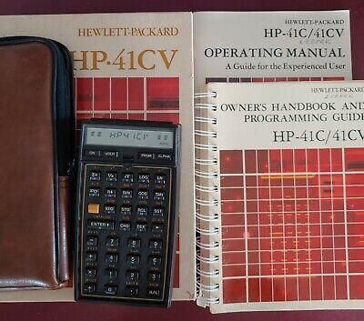 HP41CV Scientific Vintage calculator w/Box, Manuals  - Good condition