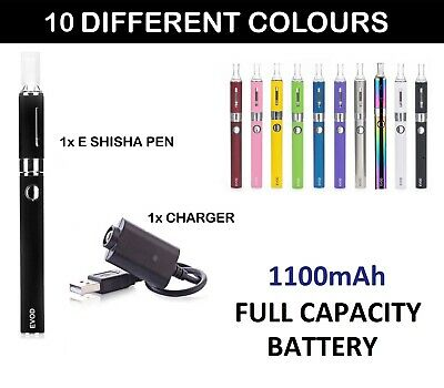 ELECTRONIC E-CIGARETTE VAPE PEN E SHISHA HOOKAH KIT + 1100 MAH BATTERY + CHARGER