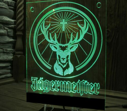 Jagermeister Sign LED Neon Light  Neon  Supply Bar  VIDEO !