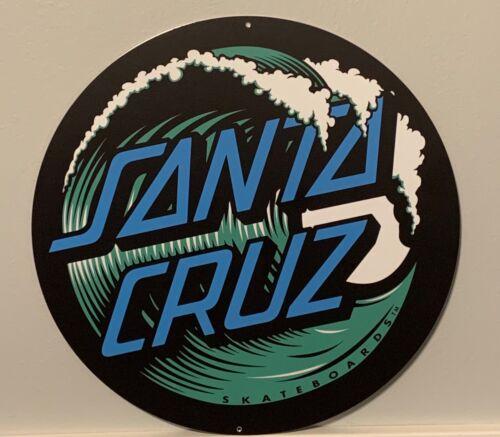 "Santa Cruz Skateboard Wave 14"" Aluminum Sign"