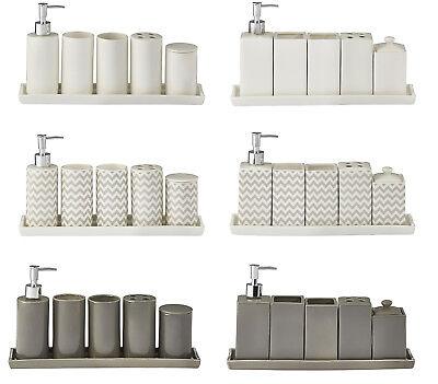 6 Becher Set (6-teiliges Bad-Accessoires-Set, Seifenspender Zahnputzbecher Aufbewahrungsdose)