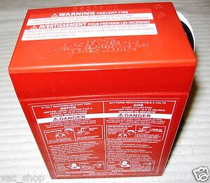 00801-0339 Genuine Power Wheels by Fisher Price Red Battery 6 Volt