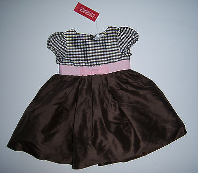Gymboree Celebrate Spring 18-24 Months Brown Gingham Silk Easter Dress