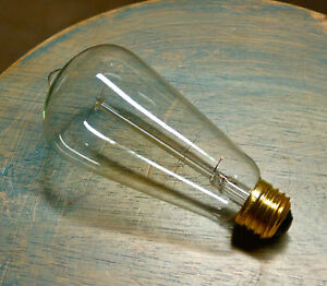 LOT-4-Marconi-Style-Light-Bulbs-Vintage-Edison-Reproduction-60-Watt-Clear