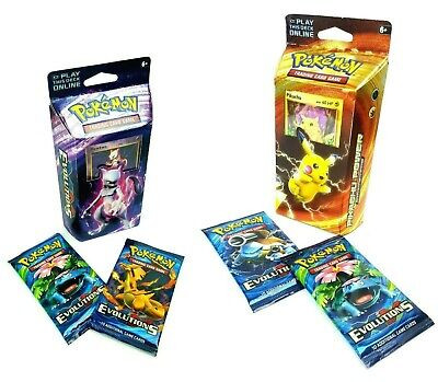 Pokemon Power Theme Deck XY Evolutions Holo Playmat 60 Playing Cards + 20 Extra