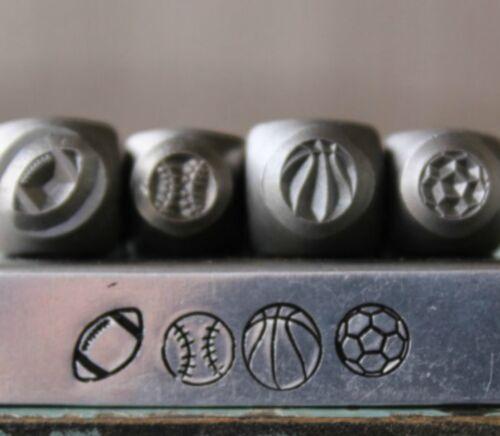 SUPPLY GUY 5mm & 6mm Sport Ball Metal Punch 4 Stamp Set SGCH-236188245311