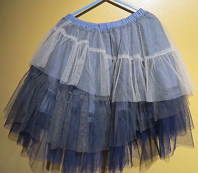 Paper Wings Clothing Girl Blue Tulle Tutu Skirt Skirt size 12 Paper Wings Clothing