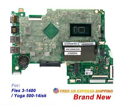 Lenovo Flex 3-1480 Yoga 500-14ISK 80R3 Laptop w i5-6200U 2.3Ghz CPU Motherboard