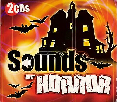 SOUNDS OF HORROR SCARY HALLOWEEN HAUNTED HOUSE SOUND EFFECTS (2-CD Set) OOP/RARE