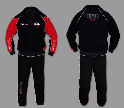 Sweatsuit Jacke Hose (AUDI S LINE Jogginganzug Anzug Set Sweat Suit rs Trainings Jacke Hose  STICKEREI)