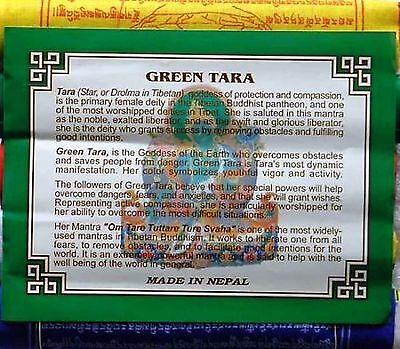 Разное Tibetan Prayer Flags Green Tara