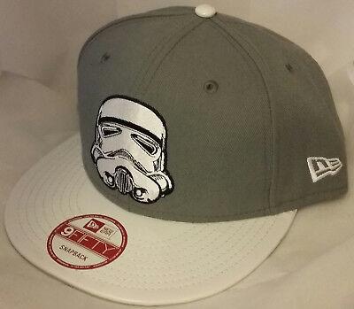 NWT NEW ERA Star Wars STORMTROOPER gray 9FIFTY SNAPBACK size adjustable cap hat
