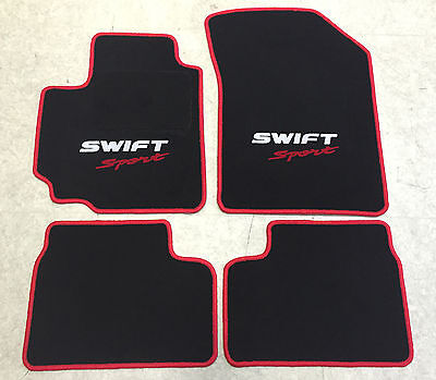 Autoteppiche Fußmatten für Suzuki Swift Sport 200510 2farbig rot weiss rot Neu