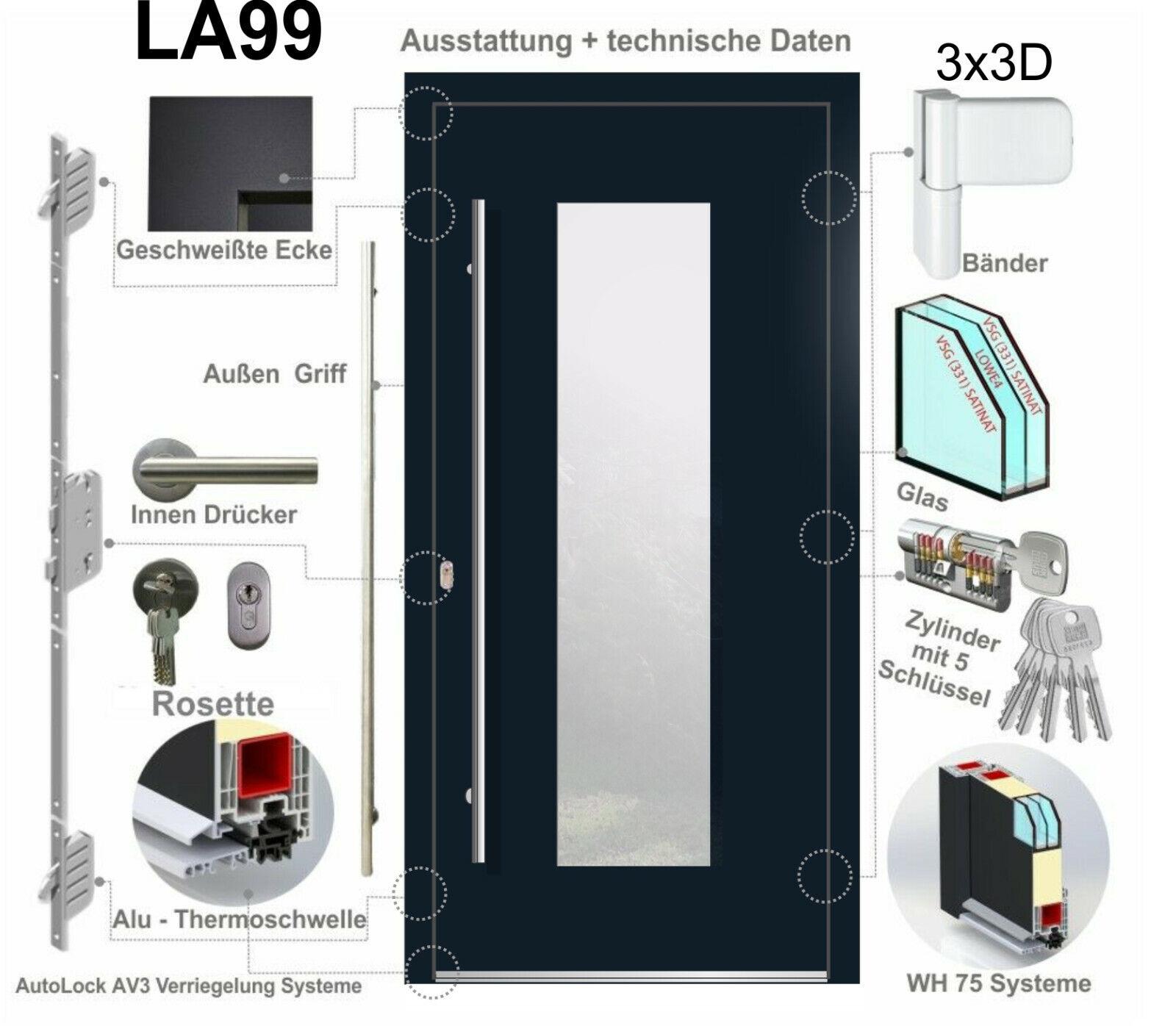 WeltHaus Haustür WH75 Aluminium mit Kunststoff LA99 Amsterdam AKTION