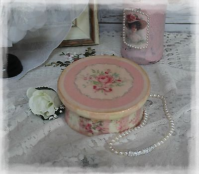 """~ Victorian ~ Wooden~Vintage~Shabby~Chic Decor~JEWELRY BOX~ """"Faded Roses..."""" ~"""