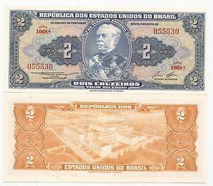 BRAZIL-CRUZEIROS-2-P-151b-ND-1958-UNC-5-PCS