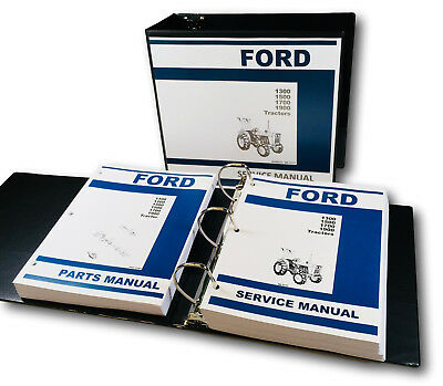 Ford 1300 1500 1700 1900 Tractor Service Repair Shop Manual Parts Catalog Binder