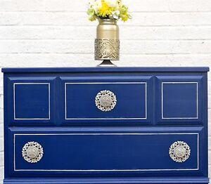 Navy &a Gold Dresser