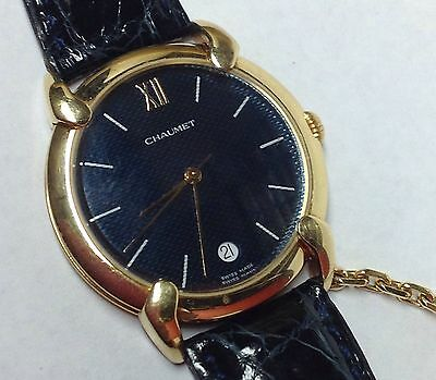 CHAUMET 18K YELLOW GOLD SWISS MADE QUARTZ WATCH