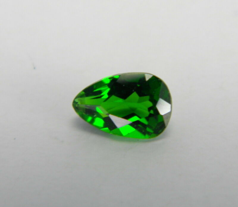 .46 Carats Natural Green Chrome Diopside Faceted Gemstone Pear CDP35