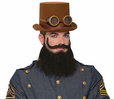 Steampunk General Jax Beard & Moustache Set Facial Hair Cosplay - General Moustache