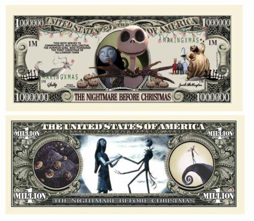 Pack of 100 - Disney Nightmare Before Christmas Jack Skellington Dollar Bill