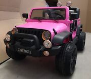 Big 12V Jeep Kids Ride On Cars 2 Seaters Remote Rubber Wheel Pink Villawood Bankstown Area Preview