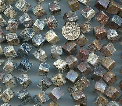 PIETERSITE 10x10x10mm Dice Cube shaped stone beads 16