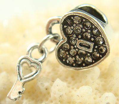New European Silver CZ Charm Beads Fit sterling 925 Necklace Bracelet Chain s9d6
