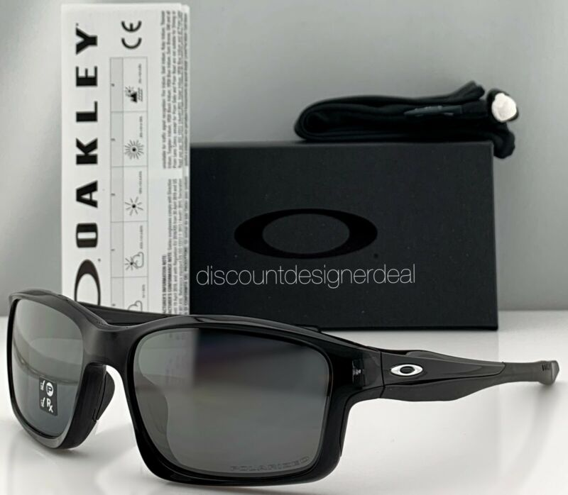 Oakley Chainlink Sunglasses OO9247-09 Black Frame Silver Iridium Polarized Lens