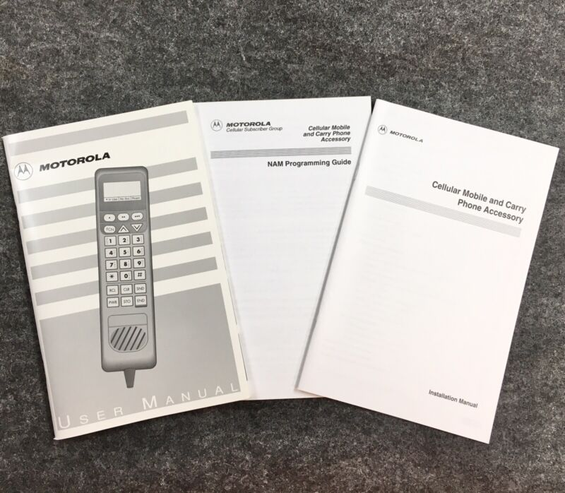 Vintage 1993 Motorola Cell Cellular Mobile Phone Owners Manual User Guide TO