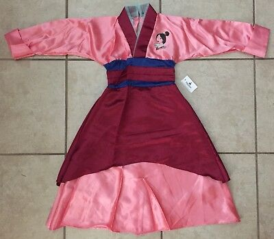 NWT! DISNEY WORLD Princess MULAN Fancy Dress COSTUME S 6/6X](Disney Mulan Costume)