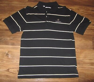 Vanderbilt Commodores Mens Polo Shirt  Authentic Nike Team Dri Fit  Size L