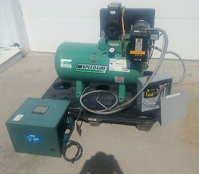 Speedaire Commercial 3ph Air Compressor 34 Hp -30 Gal W Air Dryer Linebacker
