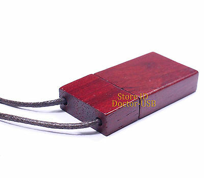 Red Wood USB Drive 10PCS 8GB G Wooden Memory Flash Pendrive Stick with Lanyard