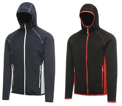 Regatta Mens Seoul Hooded Full Zip Fleece Hoodie Fitted Jacket Gym Running
