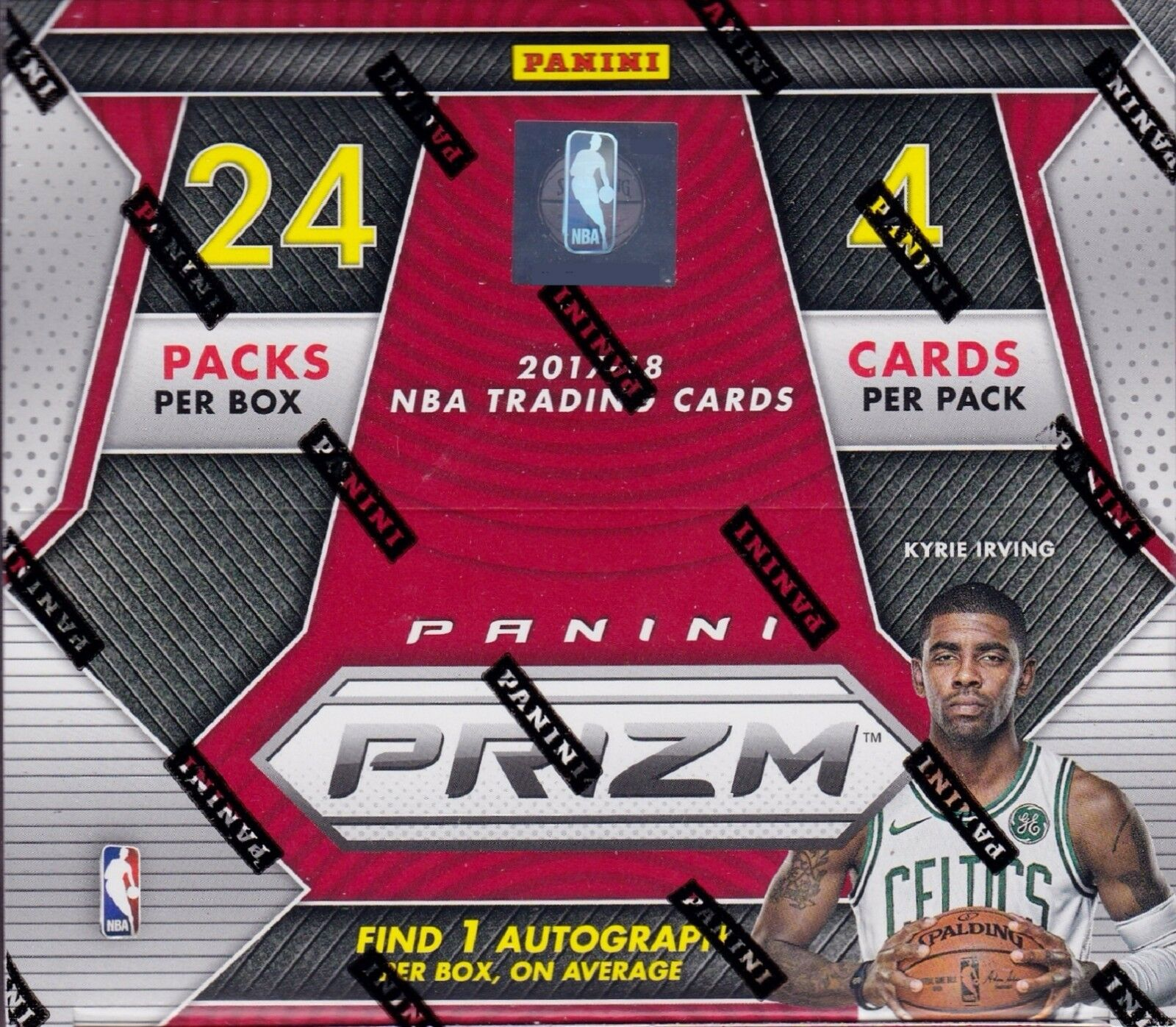 Купить 2017-18 Panini Prizm Basketball sealed retail box 24 packs 4 NBA cards 1 auto