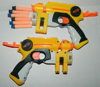 NERF 2-pack Light Up NITE FINDER Shoot Dart Guns + 6 Darts