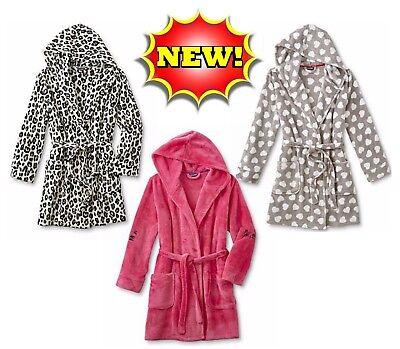 JOE BOXER Girls Hooded Bathrobe Sleepwear SUPER Plush Soft Cozy Microfleece NEW