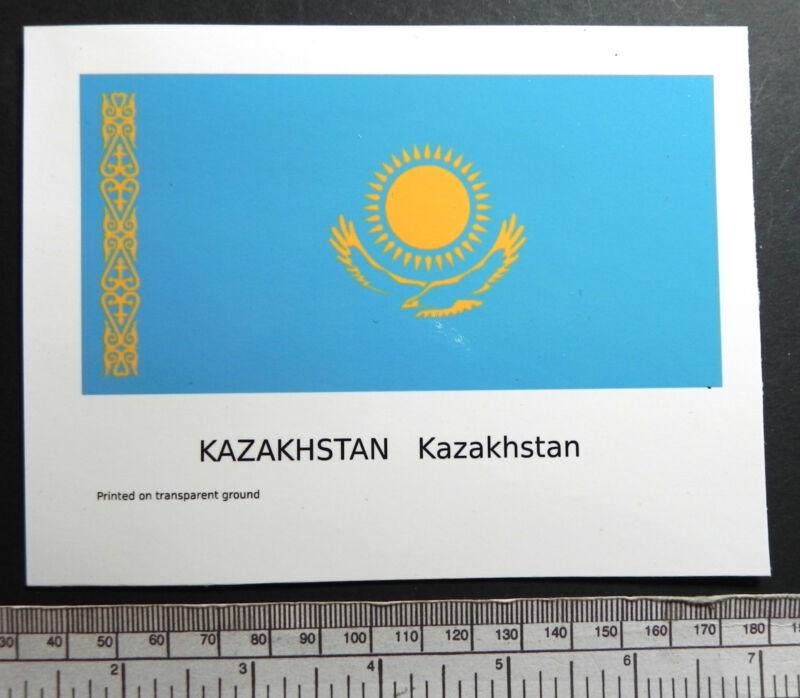 """Kazakhstan -  flag water-slide transfer 127 x 63 mm (5"""" x 2.1/2"""")"""