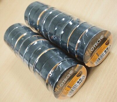 Lot Of 20 Rolls 33 Ft 34 Pvc Black Insulated Electrical Tape High Quality