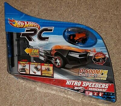 NEW Hot Wheels RC Nitro Speeders Hammerhead Dale Earnhardt Jr. Mini Remote Car ()