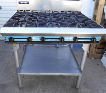 STOVE/OVEN-BLUESEAL. GAS 6 BOILING BURNERS ON STAND WORKING ORDER
