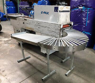 C-pak Shrink Wrap Machine With Heat Sealer Tunnel And Return Conveyor
