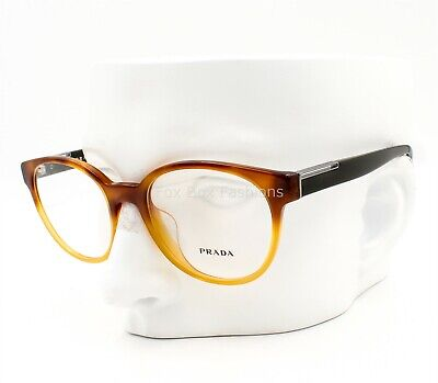Prada VPR 10U-F NKO-1O1 Eyeglasses Glasses Havana Gradient Yellow 54mm Asian (Yellow Eye Glasses)