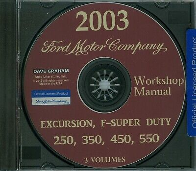 2003  FORD TRUCK SHOP  MANUAL ON CD-COVER  F SUPER DUTY F-250,350,450,550  ()