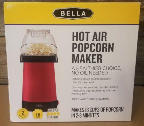 Hot Air Popper Maker Popcorn Machine Red Healthy Kitchen Ele