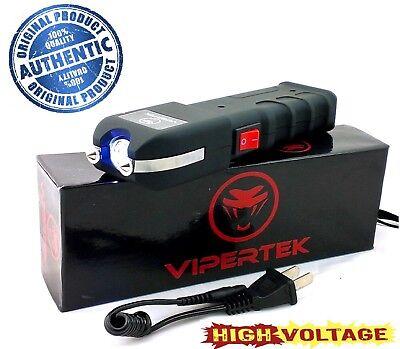 VIPERTEK High Voltage 180 Billion Volt Rechargeable Stun Gun - Bright LED Light